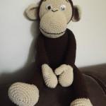bruin gehaakt aapje