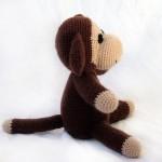 schattig bruin gehaakt aapje